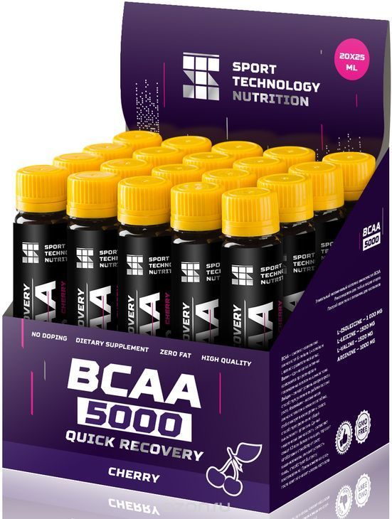 "BCAA Sport Technology Nutrition ""5000"", вишн¤, 25 мл х 20 шт"